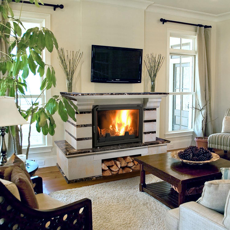 фото стильных каминов в квартире украсит новогодний интерьер